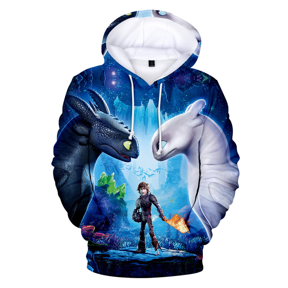 NEW Unisex How to Train Your Dragon Toothless Cosplay Costume  3D Print Hoodies  Sweatshirt for adult man and women
