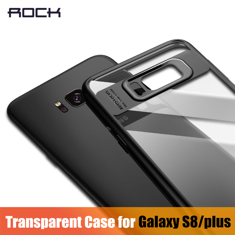 For Samsung Galaxy S8 Case, ROCK Full Protective Slim TPU & Acrylic Transparent Back Cover Case for Samsung Galaxy S8 plus Case