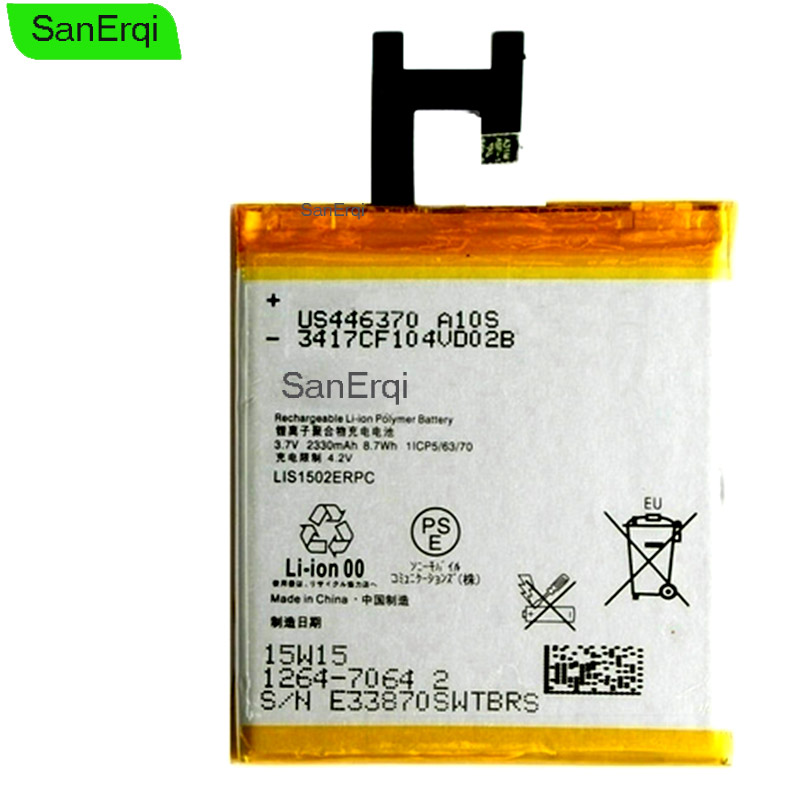 SanErqi 10PCS / LOT LIS1502ERPC For <font><b>Sony</b></font> <font><b>Xperia</b></font> <font><b>Z</b></font> L36h L36i <font><b>c6602</b></font> SO-02E C6603 S39H <font><b>Battery</b></font> 2330mAh image