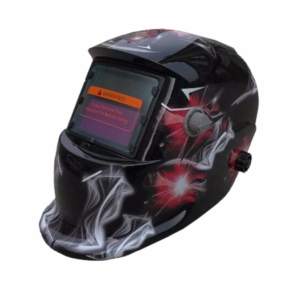 Free Shipping Welding Tools Stepless Adjust Solar Auto Darkening TIG MIG MAG MMA Welding Helmets/Face Mask/Electric Welding Mask недорого