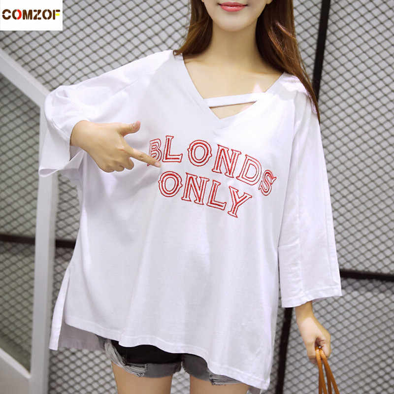 877313f53 ... Women summer korean fashion oversized t-shirt loose long tops girls  casual punk tee shirts ...