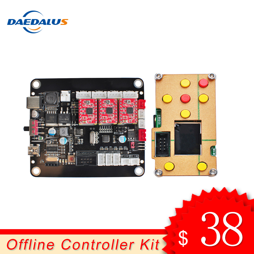 3 Axis CNC Controller Board Double Y Axis USB Driver Board + Offline GRBL Control Laser Board For CNC Engraver Wood Carving-in CNC Controller from Tools    1