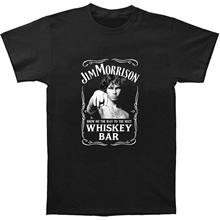Jim Morrison Show Me The Way To Next Whiskey Bar Doors Logo Men's T-Shirt(China)