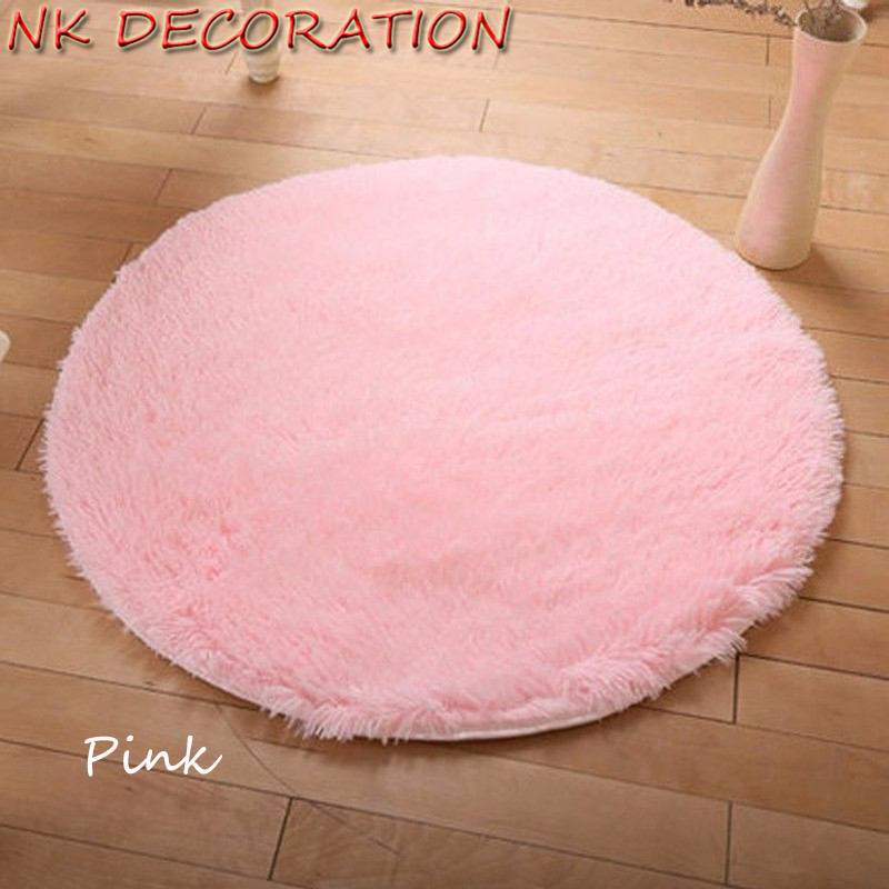 Round Pink Rugs