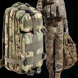 9 cor 30L 3 P Mochila Tático Ao Ar Livre saco Militar Do Exército Trekking Esporte Viagem Mochila Camping Caminhadas Trekking Saco de Camuflagem