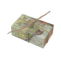 New 50Pcs Craft Paper World Map Drawers Wedding Favors DIY Candy Gift Boxes Gift Box Wedding