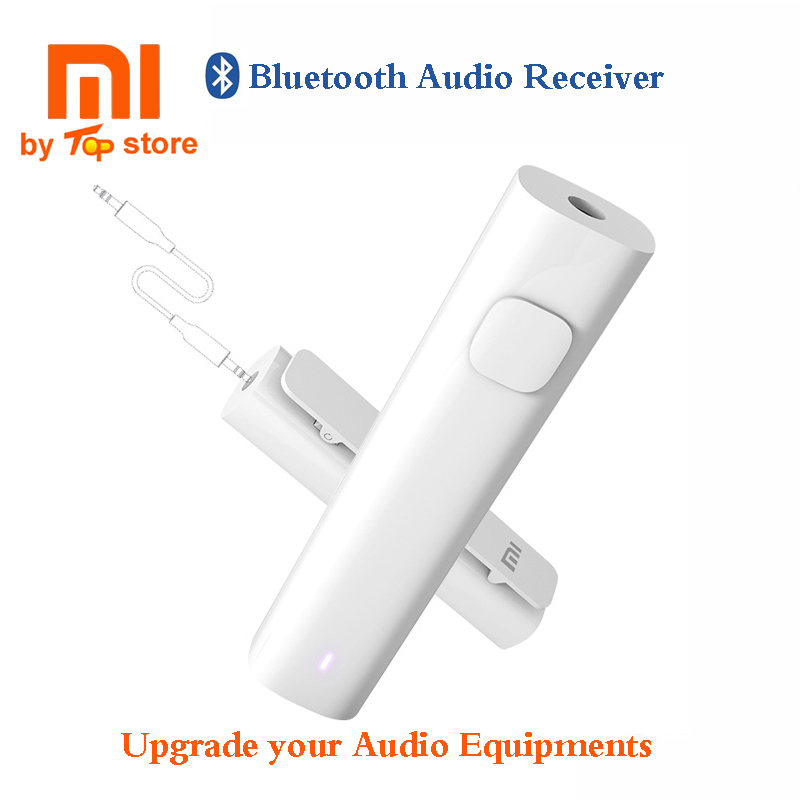 Original Xiaomi Bluetooth 4.2 Audio Receiver Wireless Adapter with 3.5mm AUX Music for Speaker Headphone Earphone Wire Free