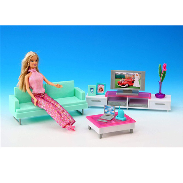 Case For Barbie Doll Suit Every Family Living Room House Furniture  Accessories Living Room TV Sofa