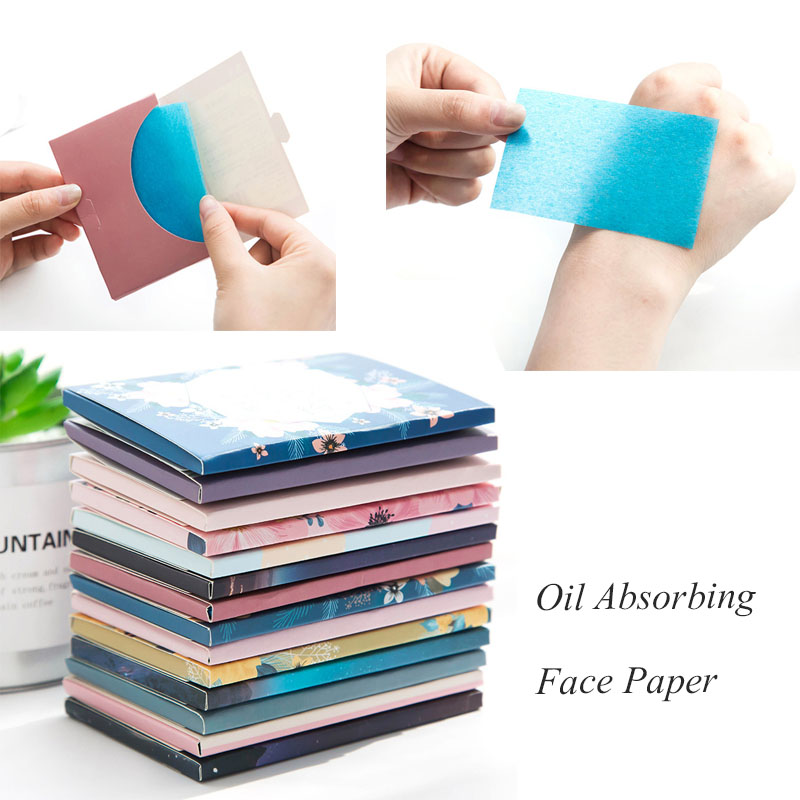 Makeup Tissue Papers Cleansing Oil Absorbing Face Paper Absorb Blotting Facial Cleanser Facial Oily Skin Oil Control Face Tools image