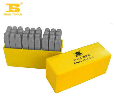 ABS Plastic Packed 27-Pcs 8mm Bearing Steel Letter BOSI Finishing Tools