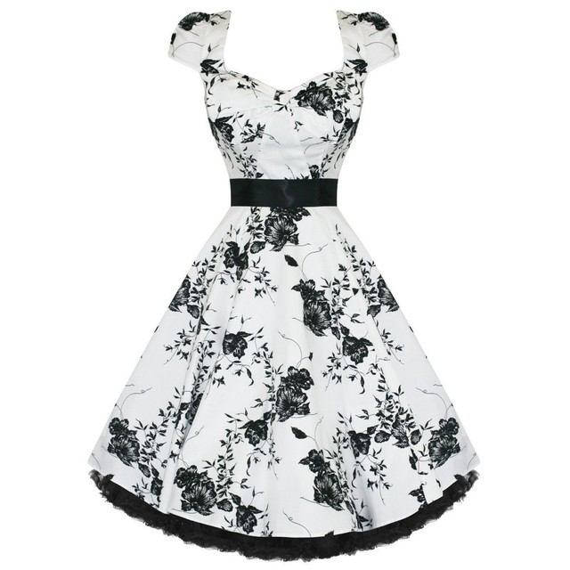 Free Shipping Black and White Floral 40's