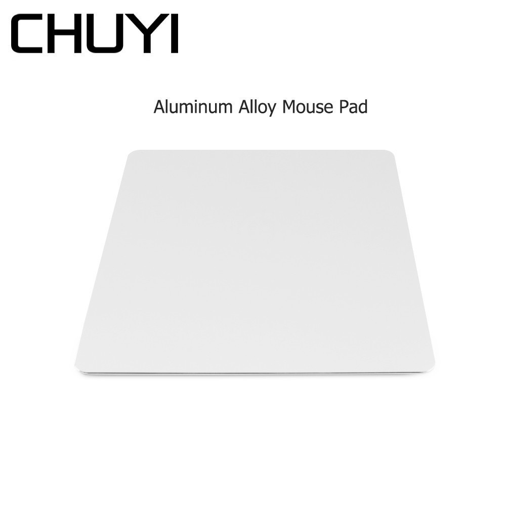 CHUYI Aluminum Alloy Metal Slim Game Mouse Pad PC Computer Laptop Gaming <font><b>Mousepad</b></font> for Apple MacBook Pro Magic <font><b>Xiaomi</b></font> Mice image
