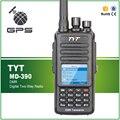 TYT MD-390 DMR FM Portátil Transceptor UHF 400-480 MHz GPS Rádio Em Dois Sentidos Rádio IP67 À Prova D' Água + Programação cabo de CD e Fone de Ouvido