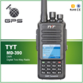 TYT MD-390 DMR Portable FM Transceiver UHF 400-480MHz GPS Two Way Radio IP67 Waterproof Radio+ Programming Cable CD and Earpiece