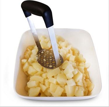 100pcs Mashed potato mash with melon and fruit sweet potato shredder non-slip Handle Stainless Steel