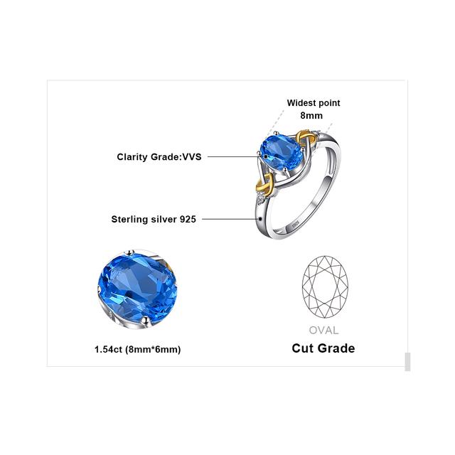 Heart Knot Blue Diamond Ring