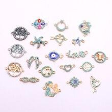 10 шт ювелирные шармы-соединители с акриловым украшением ювелирные изделия Аксессуары для ожерелья, браслеты, ювелирные изделия делая оптом