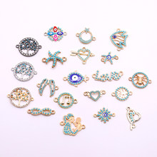 10pcs Jewelry Connectors Charms with Acrylic Decoration Jewelry Accessories for Necklaces Bracelets Jewelry Making Wholesale(China)
