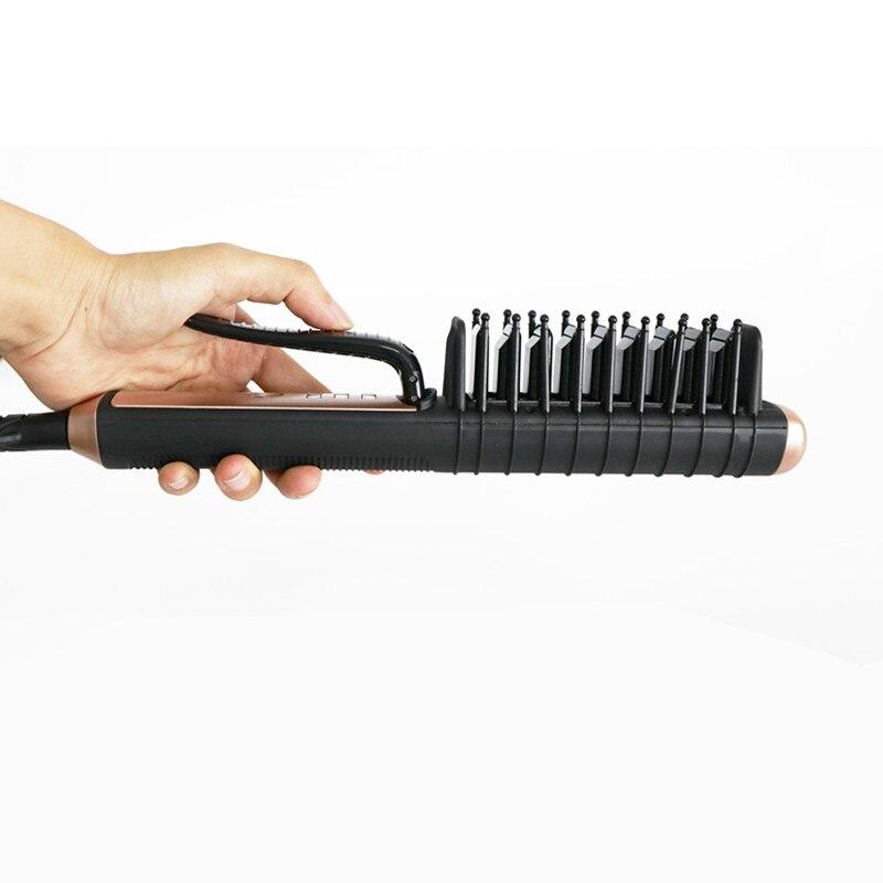 2018 Lescolton usine directe nouveau panneau en céramique droite brosse cheveux en gros attelle électrique droite cheveux peigne bâton perm