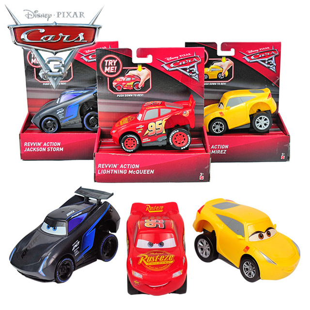 disney pixar cars 3 en plastique pull back voiture jouets foudre mcqueen jackson temp te voiture. Black Bedroom Furniture Sets. Home Design Ideas