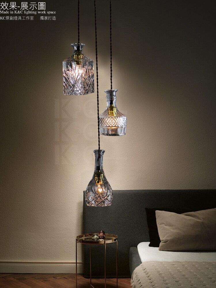 Plafond rond 3 têtes RH Loft Vintage Edison lampe en verre clair E27 ampoule pendentif lustre Bar café café Restaurant