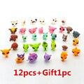 12 pçs/saco Pouco Pet Shop LPS Brinquedos Cão Gato Dos Desenhos Animados do Filme de Ação figuras Mini Toy PVC 5-6 CM Crianças Coleção de SACO DO OPP Estilo Aleatório