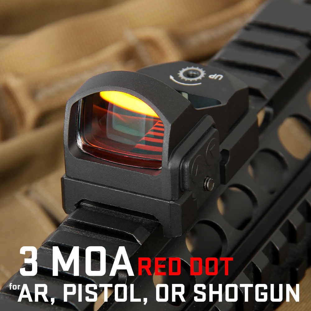 Tactical Luxury 3 MOA Dot 1X Magnification Red Dot Mini Red Dot Scope OS2-0117 dot