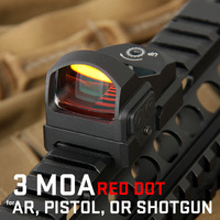 Tactical Luxury 3 MOA Dot 1X Magnification Red Dot Mini Red Dot Scope OS2 0117