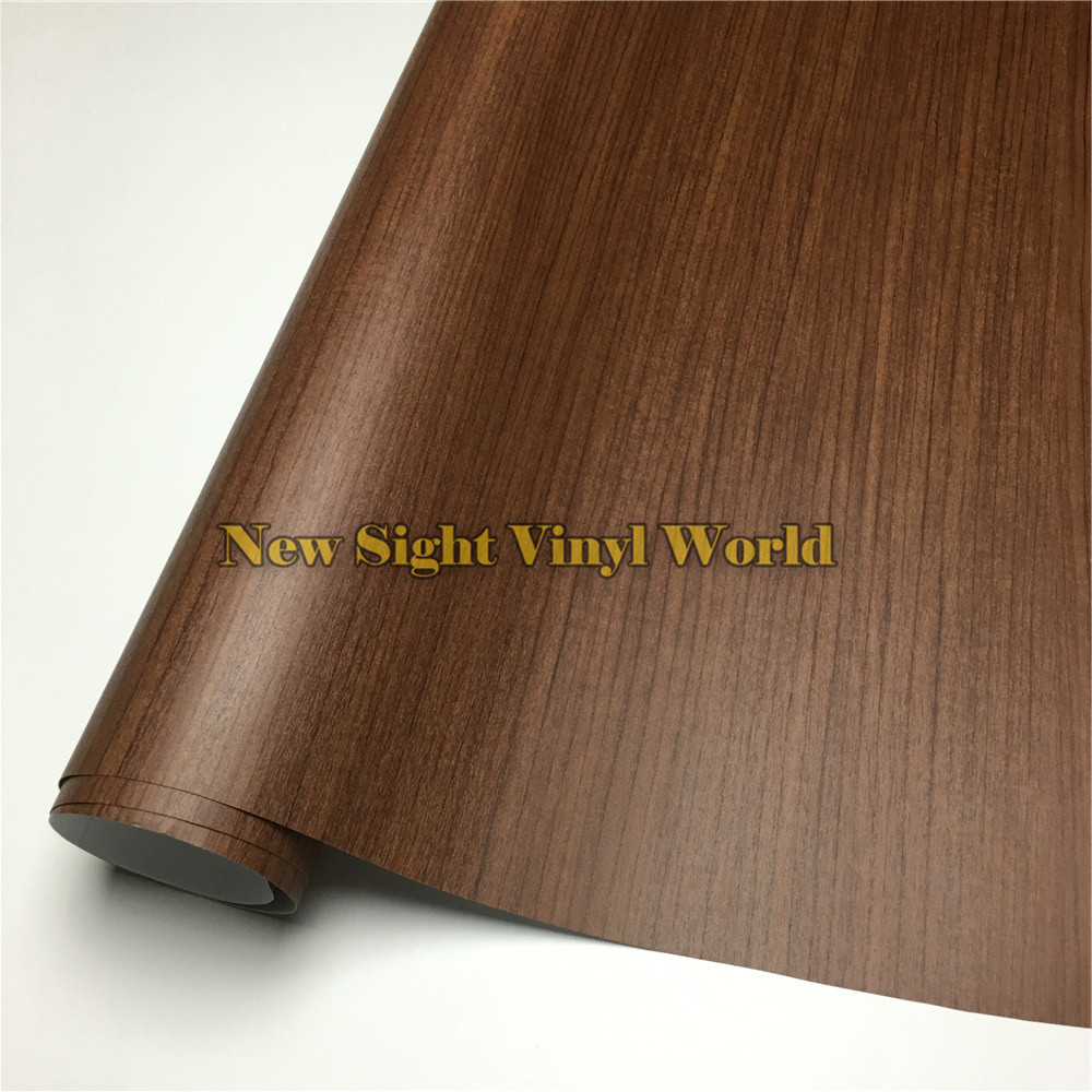 Teak Wood Adhesive Film Car Wood Vinyl Wrap Floor