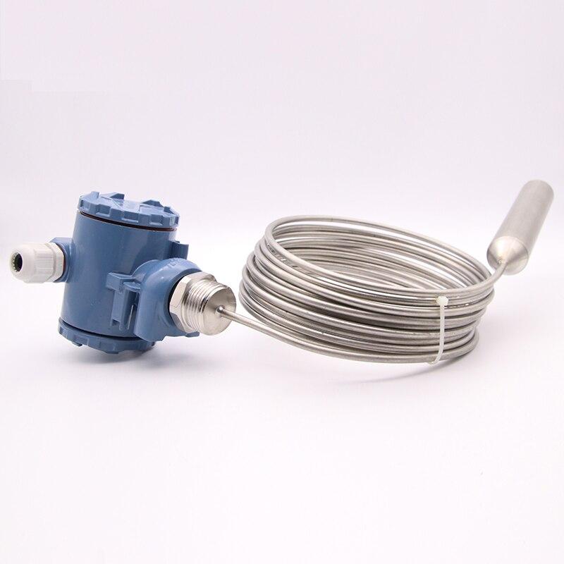 Sortie de cc de l'émetteur 4-20mA de niveau de liquide de réservoir d'eau chaude d'émetteur de niveau de carburant diesel de l'acier inoxydable 0-1m