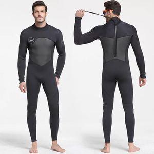 Image 1 - 남자 5mm 블랙/그레이 잠수복 스쿠버 다이빙 서핑 Fullsuit 점프 슈트 잠수복 네오프렌 잠수복 남자 5 밀리미터
