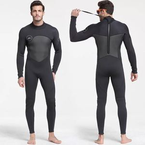 Image 1 - Erkek 5mm siyah/gri Wetsuit tüplü dalış sörf Fullsuit tulum Wetsuits neopren dalış elbisesi erkekler 5 milimetre