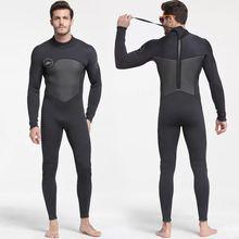 Männer 5mm Schwarz/Grau Wetsuit für Tauchen Surfen Ganzanzug Overall Neoprenanzüge Neopren Nass Anzug Männer in 5 millimetre