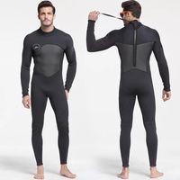 Men's 5mm Black/Grey Wetsuit for Scuba Diving Surfing Fullsuit Jumpsuit Wetsuits Neoprene Wet Suit Men in 5 millimetre