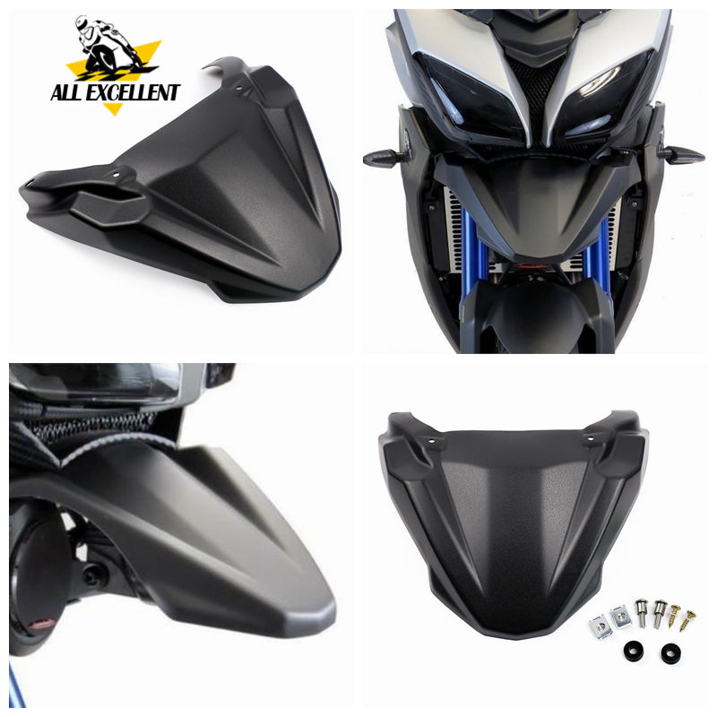For Yamaha Tracer 900 FJ-09 MT-09 Tracer Front Lip Fender Black High Quality ABS Mudguard Front Wheel Fender Beak Nose Cone