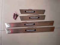 Car Cover 4PCS Stainless Steel LED Door Sill Scuff Plate For Volkswagen VW Passat B5 Car