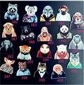 Nueva Llegada DIY de la Historieta Popular de Estilo Harajuku Doble de Acrílico Broche Insignia Traje de Cerdo Gato Tigre León Lleva Accesorios de La Joyería