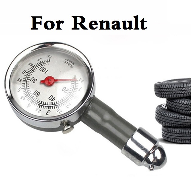 Car Styling Auto Tyre Tire Air Pressure Gauge Dial Meter For Renault