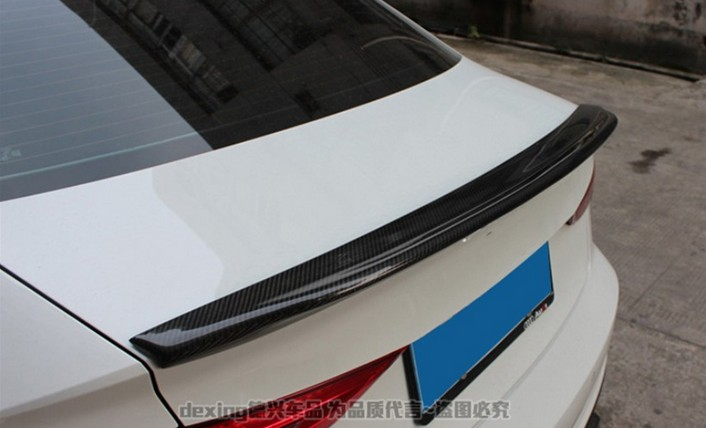 HLONGQT Carbon Fiber Spoiler For Audi A3 S3 RS3 2014.2015.2016.2017 High Quality Car Rear Wing Spoilers Auto Accessories