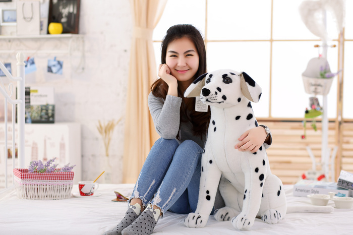 big lovely simulaiton spots dog toy big plush sitting spot dog doll gift about 75cm 0554 new plush gray akita dog toy lovely cute fat sitting akita dog doll gift about 45cm