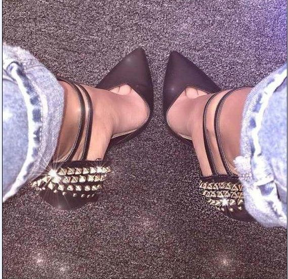 Rivet Sexy Femmes 11 TalonsZl Avec Hauts Haute Chaussures Nouvelle Poadisfoo Net Talons Rouge Noir Astuce Cm Revit 8888 De Fine 5 2018 D'été À 2 hCsdtQrxB
