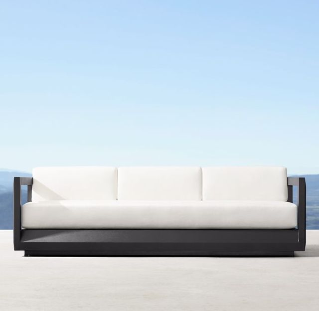 Nueva llegada muebles al aire libre patio playa aluminio 3 asientos sofá