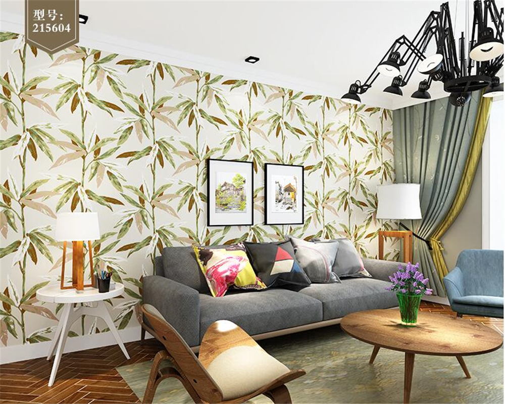 beibehang Southeast Asian style wall paper bedroom living room ...