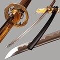 Японский самурайский меч катана ручной работы  лезвие из углеродистой стали  боевой готовый меч  полный Tang острый режущий меч  тренировка ...