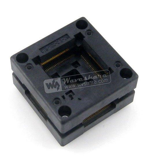 Modules Free Shipping QFP100 TQFP100 LQFP100 PQFP100 OTQ-100-0.5-09 Enplas QFP IC Test Burn-In Socket 0.5mm Pitch IC Body Size14 modules qfp100 lqfp100 qfp stm32f2 stm32f4 stm32 ic test socket programming adapter 0 5pitch free shipping