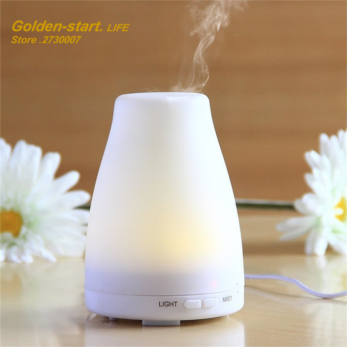 100ML Ultrasonic Essential Oil Aroma Diffuser Colorful Light  Air Humidifier Mist Maker for Home crdc air humidifier ultrasonic 100ml aroma diffuser glass essential oil diffuser mist maker with 7 colors changing led light