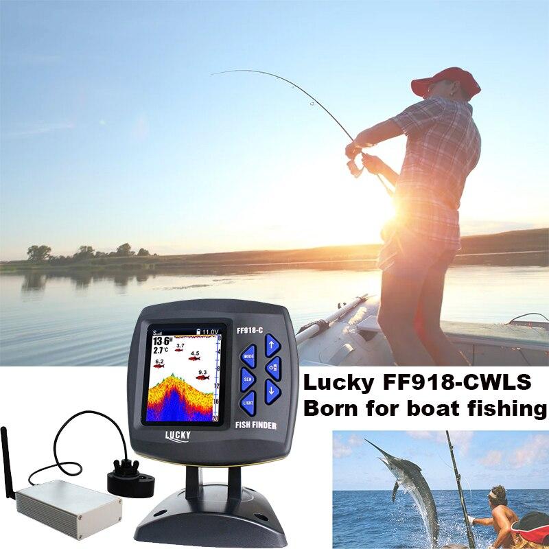 Chanceux FF918-CWLS Nautique Fish Finder 300 m/980ft Sans Fil en Fonctionnement De Pêche Télécommande Sondeur # C7