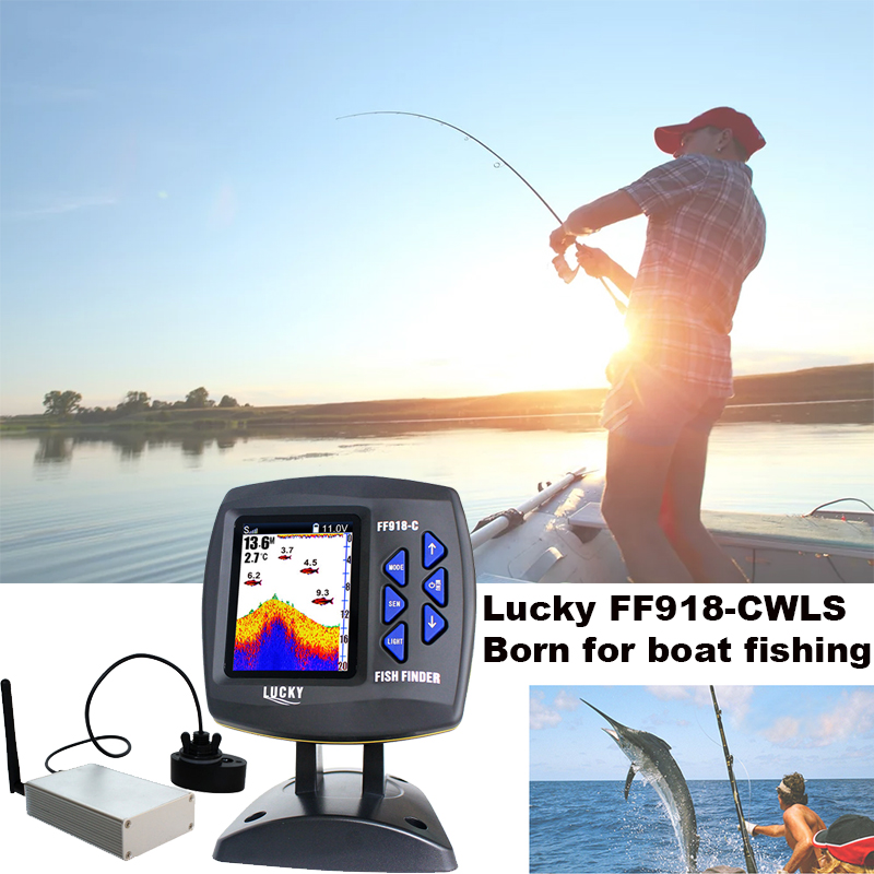 Glück FF918-CWLS Bootfahren Fisch Finder 300 mt/980ft Wireless-reichweite Angeln Fernbedienung Fishfinder # C7