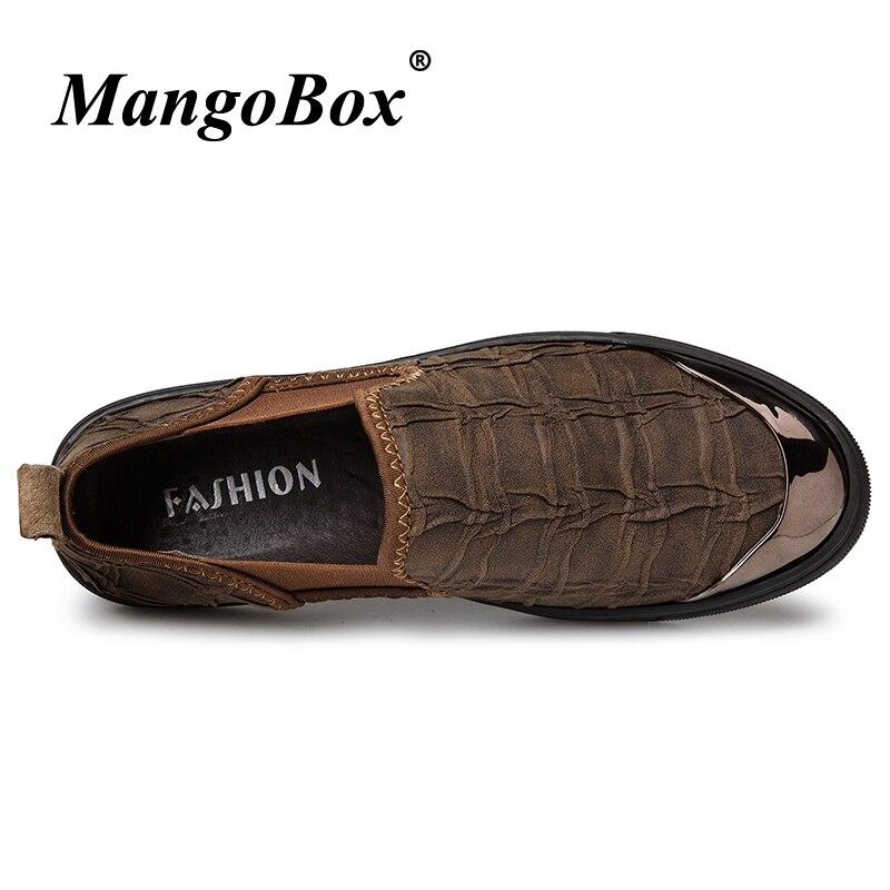 Shoes Mocassins light On Outono De Borracha Mens Brown Homens Slip Fundo Primavera Cáqui Luz khaki Sapatos Casuais Homem Masculina Plana Marrom Black Moda q48OOw