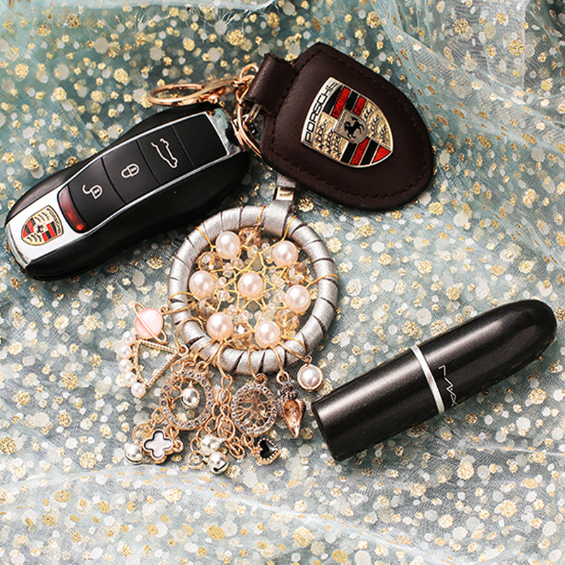 Image 2 - New Fashion Key Ring Dream Catcher Keychain Dream Catcher Dreamcatcher Key Chain Feather Wind Chime Car Hang Up Accessory-in Key Rings from Automobiles & Motorcycles